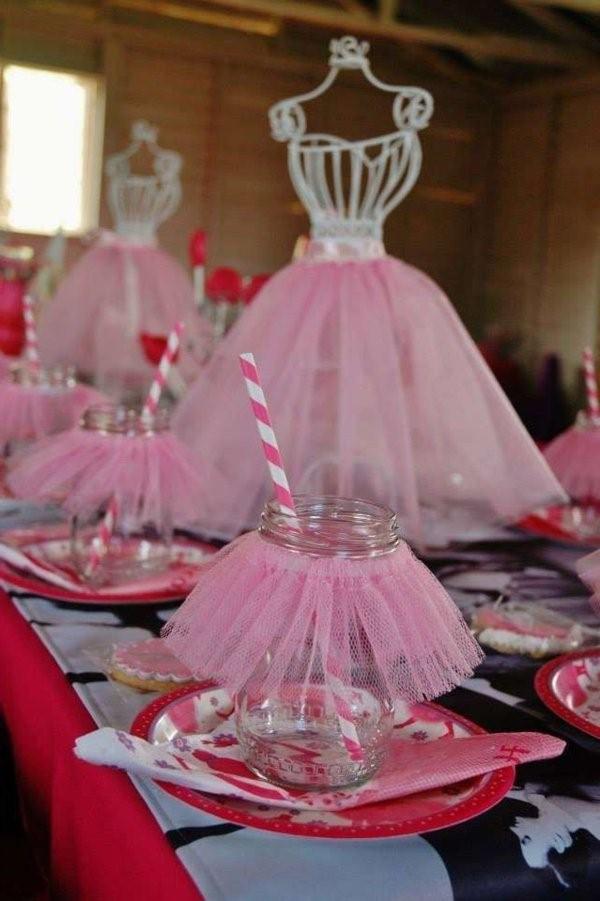 birthday party with beautiful tischdeko party deco dancer theme