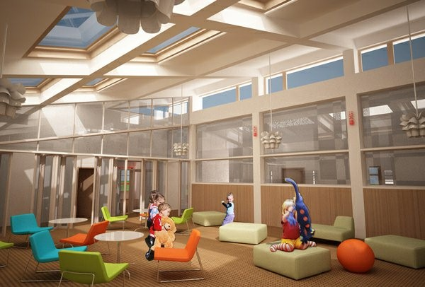 kindergarten interior modern style and colorful furniture