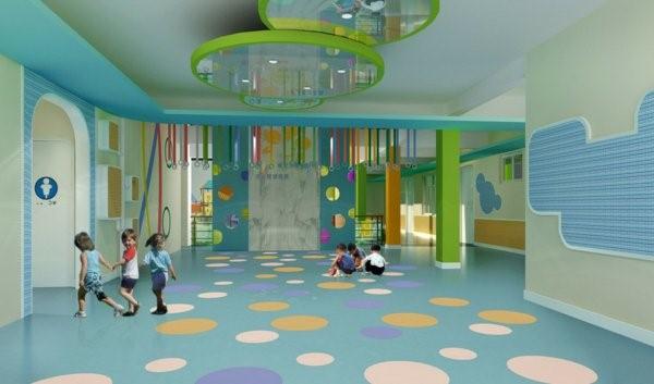 kindergarten interiors blue wänd very interesting