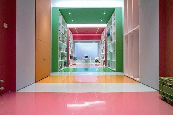 kindergarten interiors colorful walls