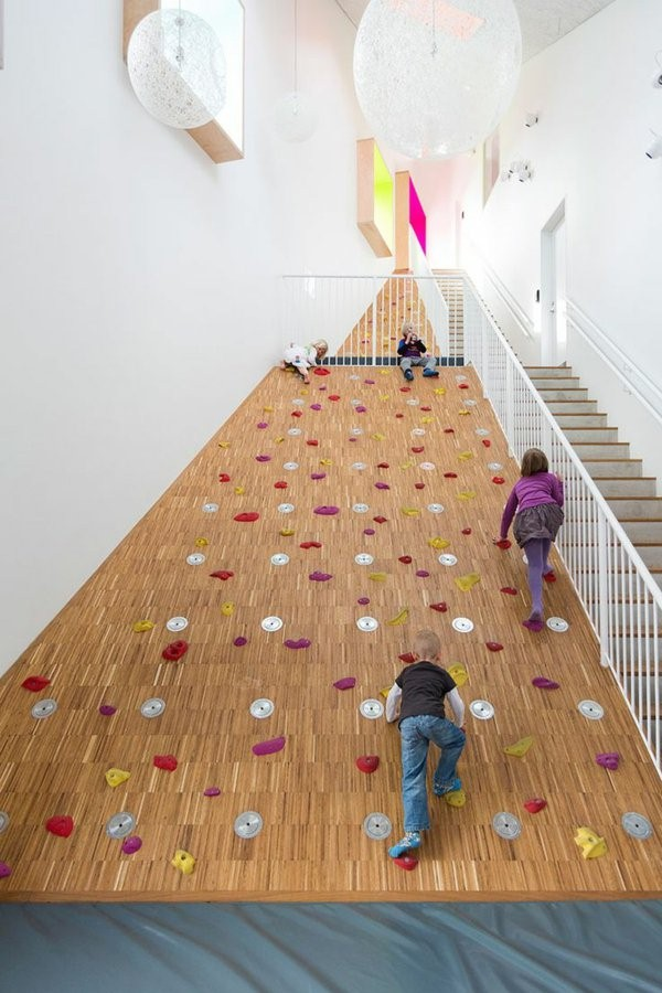 kindergarten interiors house a child and to artificial tree