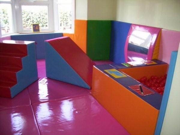 kindergarten interiors in bright colors