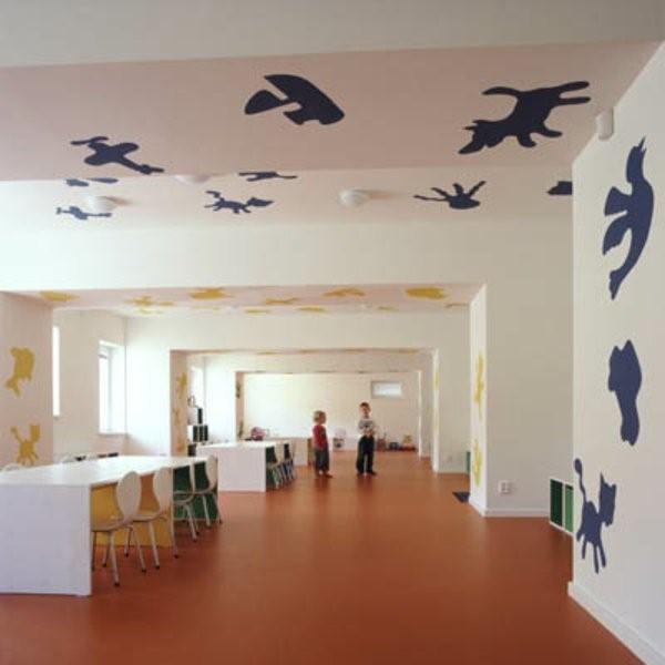 kindergarten interiors interesting wall design