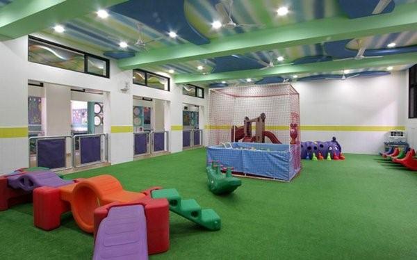 kindergarten interiors large greenspace