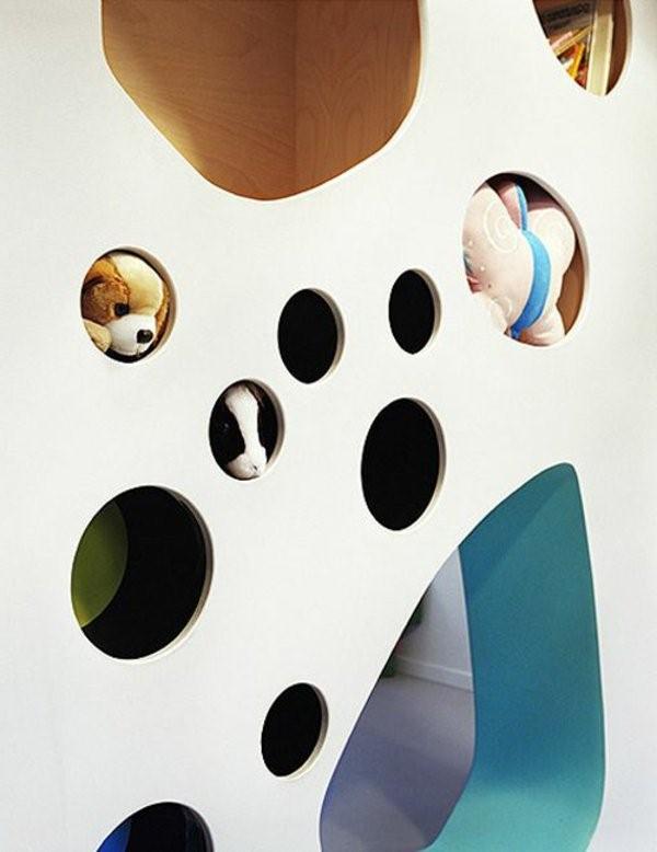 kindergarten interiors striking wall with modern design