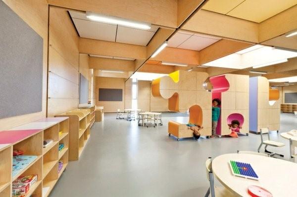kindergarten interiors the whole design of wood