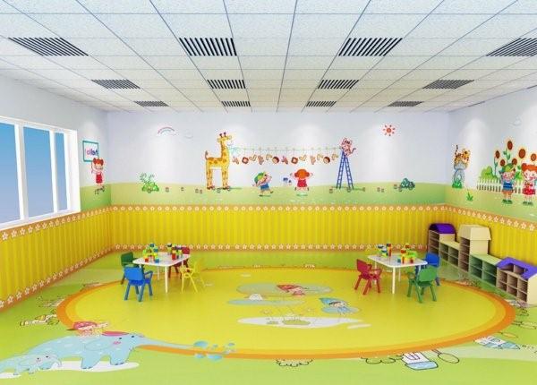 kindergarten interiors yellow and white