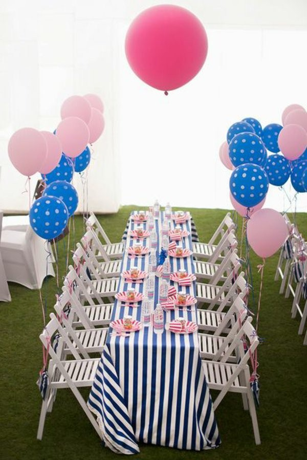 table decoration for a kids birthday party decoration in the garden 1