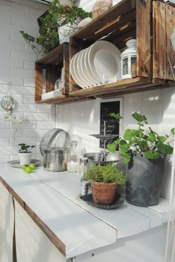 Cottage Kitchen goats walls