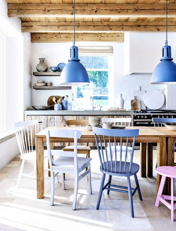 Country Kitchen blue accents