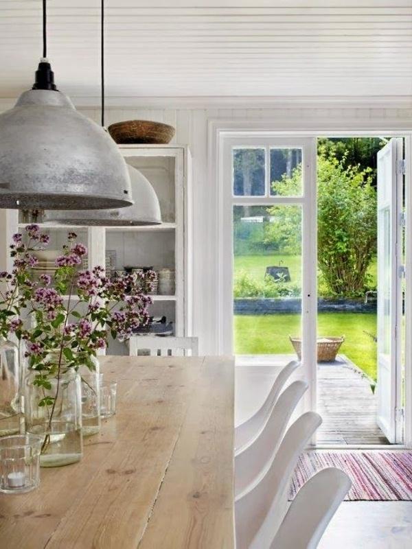 Swedish white kitchen cabin