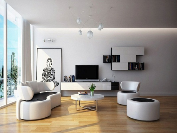 Decoration ideas modern living room Asian accents