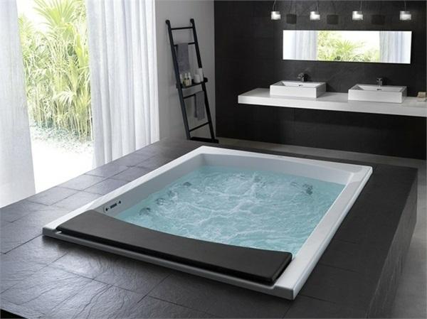 Bathroom design ideas bath Italian bathroom furniture. 25 hot tub styles for inside and outdoors Make certain spa