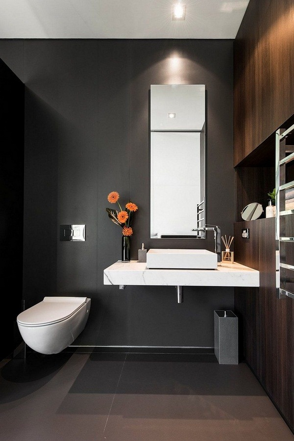 Visitors toilet trend 16 beautiful concepts for a modest for Wc decor ideas