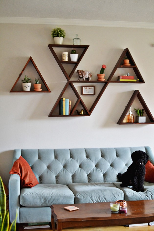 Diy ideas the best diy shelves decor10 blog Living room ideas diy