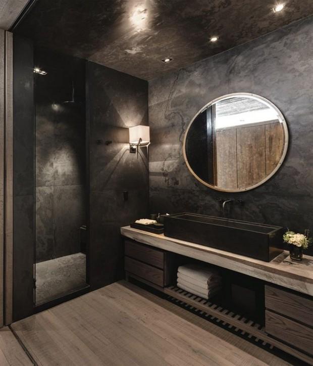 10 Black Luxury Bathroom Design Ideas - Home Design And Decorating