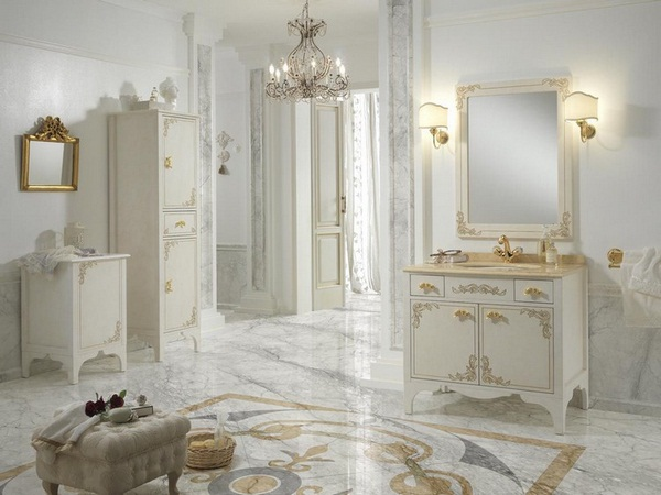 Bathroom Furniture In Baroque Style With Magnificent ...