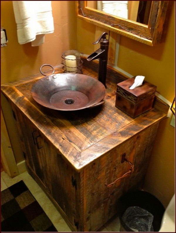 Rustic Chic Bathroom Lighting House Decor Ideas