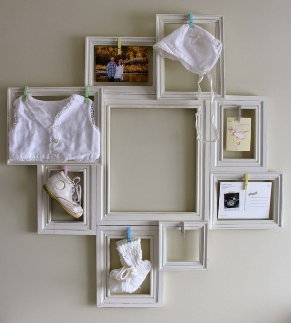 With picture frame decorate 40 ideas for do it yourself for Vintage picture frame ideas