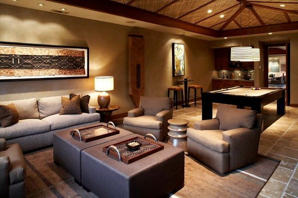 device hawaii brown bamboo furniture sofas idea - Decoration Salon Turc