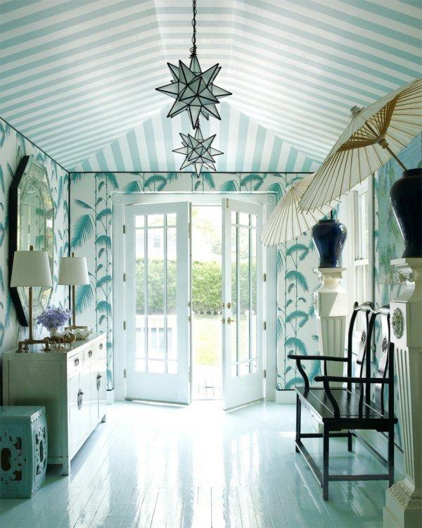 corridor sage green color design interior