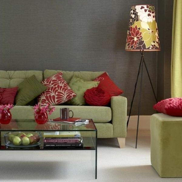 Red Color Interior Design Ideas: Fresh Sage Green Interior Design