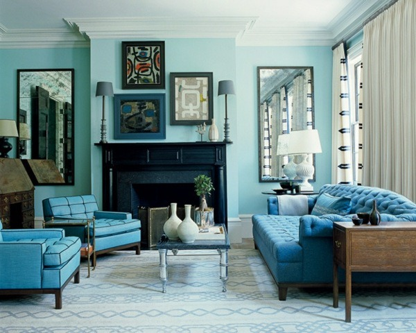 room color scheme sage green blue