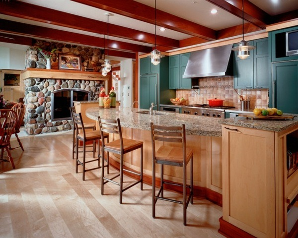room kitchen color design green wall design