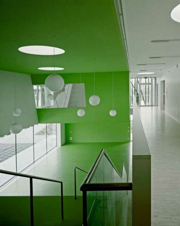 kindergarten interior green walls