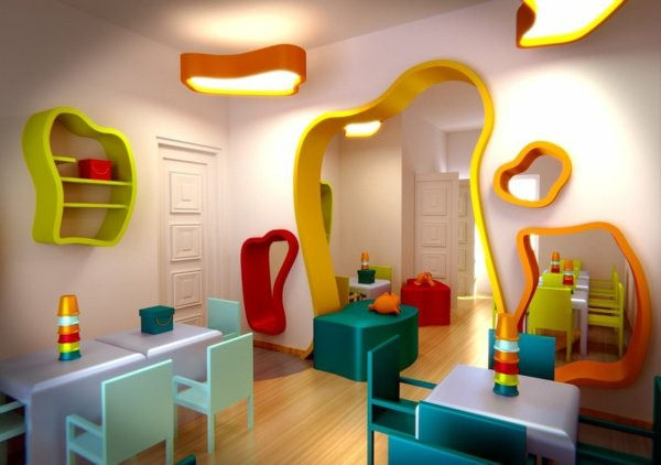 kindergarten interiors colorful colors