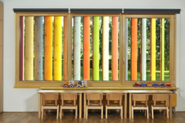 kindergarten interiors colorful modern blinds