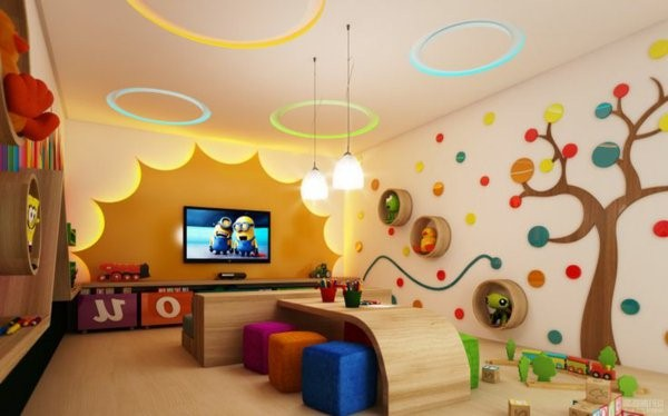 kindergarten interiors creative wall design