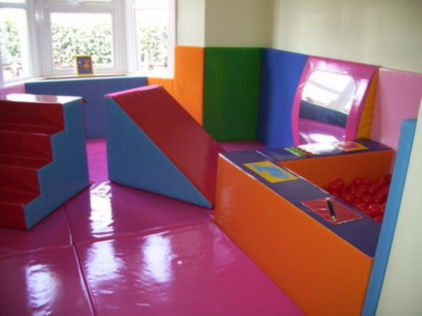 kindergarten interiors in bright colors