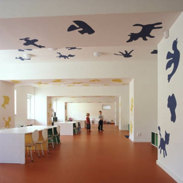 kindergarten interiors interesting wall design