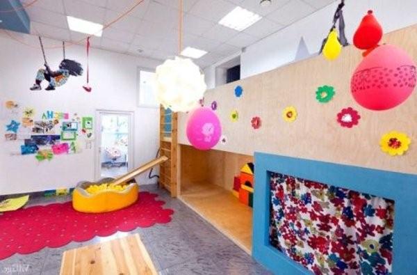 kindergarten interiors rosy hanging balls