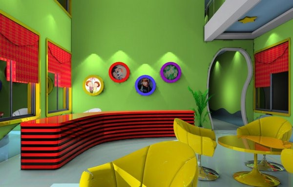 kindergarten interiors ultra modern reception in many colors