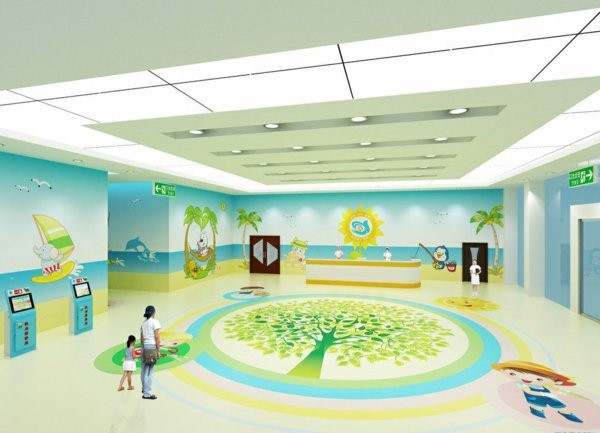 kindergarten interiors very large room bright colors