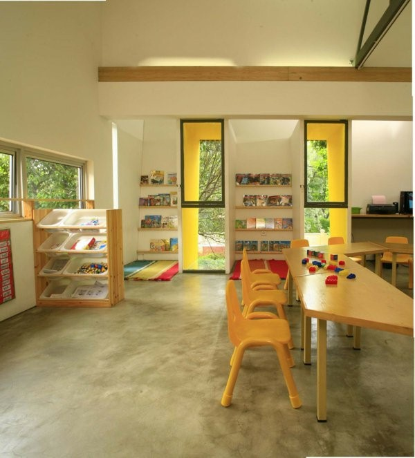 kindergarten interiors wooden table