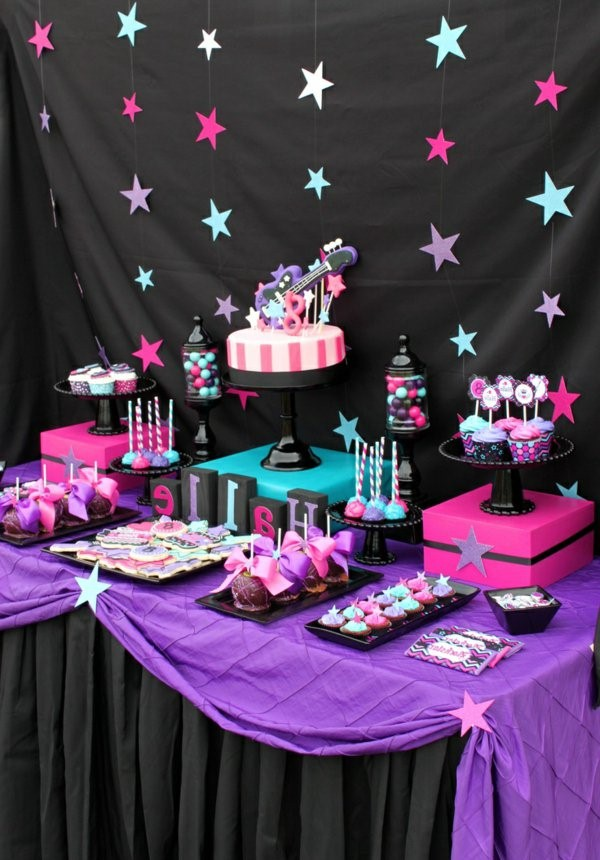 rock party birthday party ideas deco