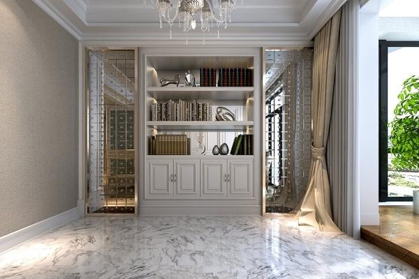 Marble floor at home black ga white rough modern classic Wall shelf Mirror Curtains