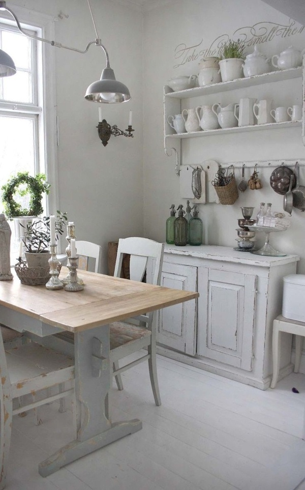 Cottage Kitchen White Wood
