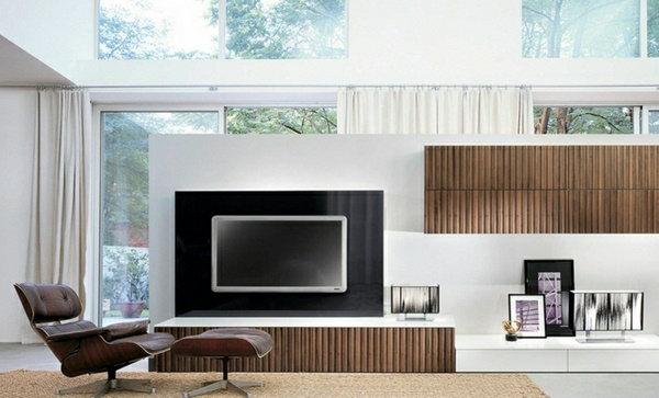 Modern living room wall design TV wall with wall panels