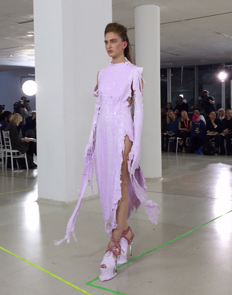 Royal College of Art MA Fashion graduate collection by Hannah Williams