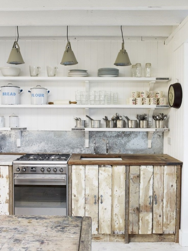 Rustic Kitchen goats walls