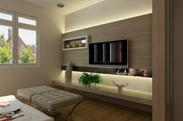 Wall panels set designed Living Room TV Wall TV Wall Wall panels wood