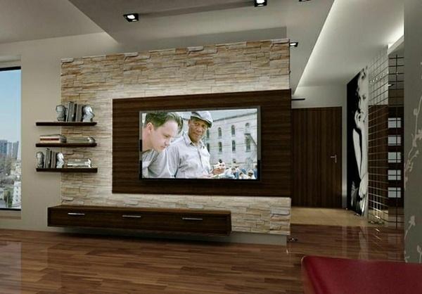 Wall panels stone look living room set living room wall design