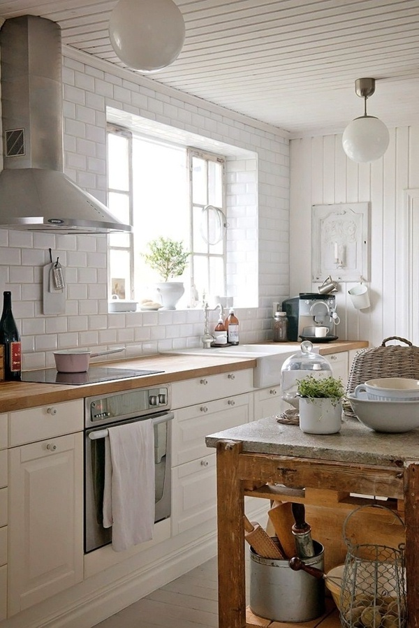 White Country Kitchen Natural