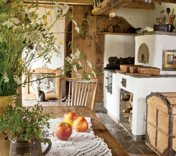 Wood Cottage Kitchen
