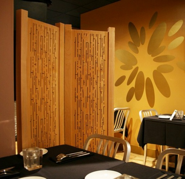 room dividers made of wood Asian design
