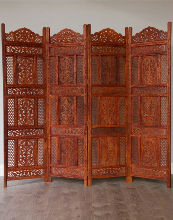 room dividers made of wood Moroccan design